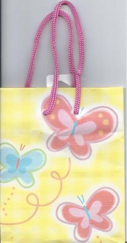1 SMALL BUTTERFLY PRINT GIFT BAG  EXPRESSIONS BY HALLMARK CA