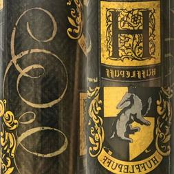 1 Roll Black Harry Potter Hufflepuff Birthday Gift Wrapping