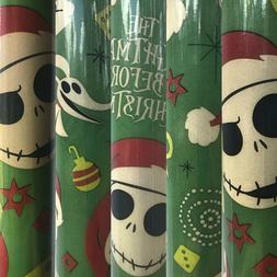 1 Roll of Disney's The Nightmare Before Christmas Gift Wrap