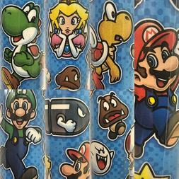 1 Roll Super Mario Birthday Gift Wrapping Paper 22.5 sq ft
