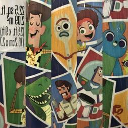 1 Roll Toy Story 4 Birthday Gift Wrapping Paper 22.5 sq ft