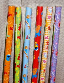 1-Sesame Street® Gift Wrap Roll~12½-sq.ft. Rolls~Buy-3-Rol