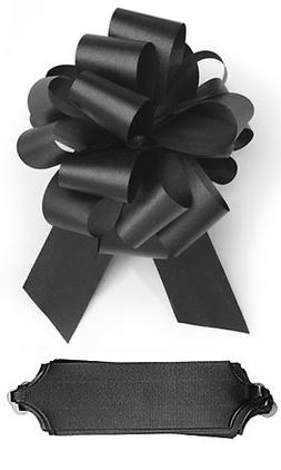"""10 Black Pull 5.5"""" Diameter Bow 20 Loops Gift Wrapping Wrap"""