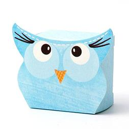10 Small Blue Owl Gift Boxes / Baby Shower Boxes / Candy Box