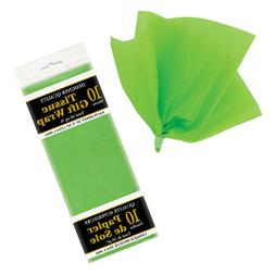10 Lime Green Children's Birthday Party Craft Wrapping Plain