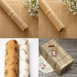 10 PCS Retro Wrapping Paper Wrap Gift Wrap Double Sided News