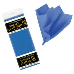 10 Royal Blue Children's Birthday Party Craft Wrapping Plain