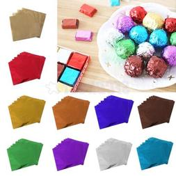 100Pcs Candy Paper Foil Chocolate Wrapping Paper for Wedding