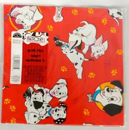 102 Dalmatians 101 Gift Wrap Wrapping Paper Birthday NIP