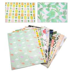10PCS Wrapping Paper Mixed Pattern Wrapper Bouquet Craft Pap