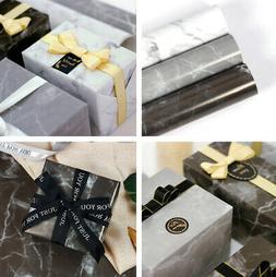10x Marble Wrapping Paper Gift Wrap Luxury Gloss 70*50cm For