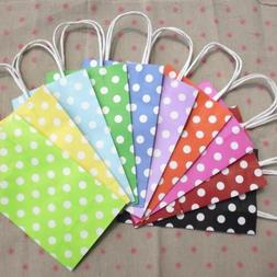 11colors  Polka Dots Paper bag with handles,Candy Color Part