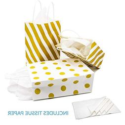 12 gold gift bags
