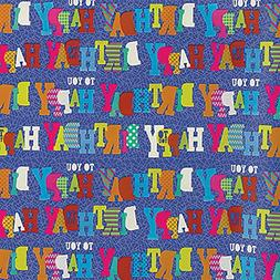 Amscan 180194 Party Supplies Blue Birthday Gift Wrap 5' x 30
