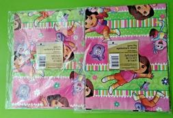 2 Packs DORA THE EXPLORER BIRTHDAY WRAPPING PAPER American G