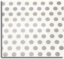 "20 Ft Silver Grey Polka Dot Wrapping Paper - 30"" Wide - 50 S"