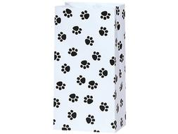 25/set Paw Print Black and White - All-occasion Paper Favor