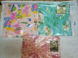 3 Packages of  Vintage Baby Shower Wrapping Paper - Some New