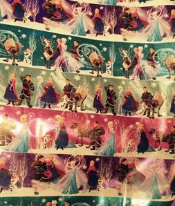 3 Rolls Disney Frozen Anna Elsa American Greeting Wrapping P
