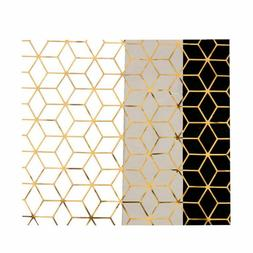 3pcs Wrapping Paper Geometric Gift Papercraft Wrapping Craft