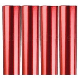 """4 Rolls - CleverDelights Metallic Red Wrapping Paper 30"""" X 3"""