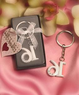 40 Sweet 16 Key Rings Birthday Party Gift Favors