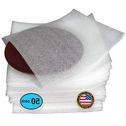 """50 Count of Foam Wrap Cup Pouches Large Size 12 1/2"""" x 12"""