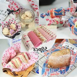 50 Sheet Wax Paper Food Wrap Burger Fries Candy Wrapping Gre