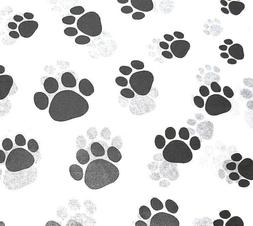50 Sheets Paw Print Tissue Paper on White  # 309 / Gift Wrap