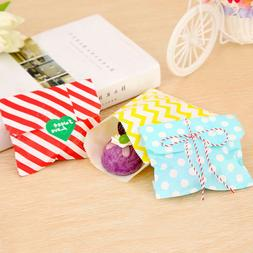 50pcs Polka Dot Candy Paper Gift Bags Wrapping Bags For Wedd