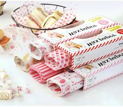 50Pcs Wax Paper Food Paper Bread Sandwich Wrappers for HamBu