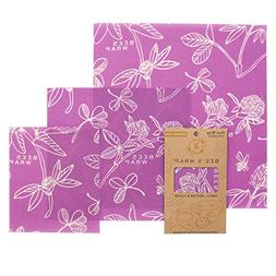 Bee's Wrap Assorted 3 Pack, Eco Friendly Reusable Food Wraps