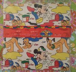 Cleo Vintage Disney's 1996 Mickey's Stuff for Kids Gift Wrap