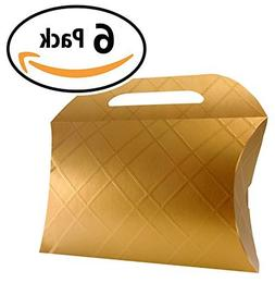 Decorative Gold Craft Cardboard Gift Boxes. A Box Set of 6 w
