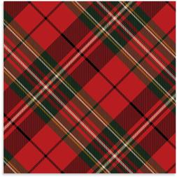 Hallmark Holiday Plaid Heavy Weight Wrapping Paper Roll 45sq