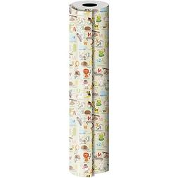 JAM Paper Industrial Size Bulk Wrapping Paper Rolls, Alphabe