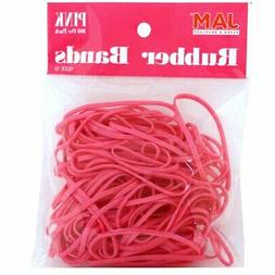 JAM Paper Rubber Bands - #33 Size - Pink Rubberbands - 100/p