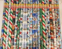Lot of 10 Christmas Gift Wrapping Paper Rolls - Each 40 sq f