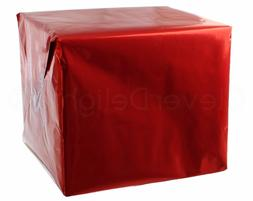 "Metallic Red Wrapping Paper - 30"" x 300"" JUMBO Roll - 62.5 S"