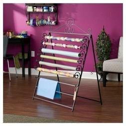 NEW Large Craft Storage Rack Wall Mount Wrapping Paper Roll