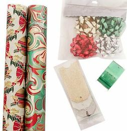 The Gift Wrap Company, Holiday Wrapping Paper Set, Elegant S