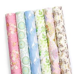 UNIQOOO Premium Gift Wrapping Paper 24Sheets/6 Designs 4 Eac