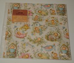 Vintage Gift Wrapping Paper Hallmark MARY HAMILTON Baby 2 Sh