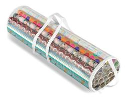 Whitmor Clear Gift Wrap Organizer - Zippered Storage for 25