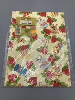 American Greetings Vintage Strawberry Shortcake Giant Sheet