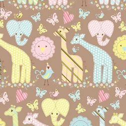 "Animal Quilt Gift Wrapping Roll 24"" X 16' - Birthday Baby Gi"