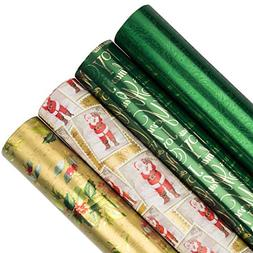 JAM PAPER Assorted Gift Wrap - Christmas Wrapping Paper - 18