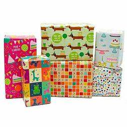 B-THERE Birthday Gift Wrap Wrapping Paper for Boys, Girls, A
