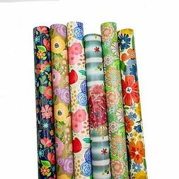 B-THERE Floral Gift Wrap Wrapping Paper for All Occasions, W