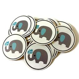 Baby Boy Elephant Stickers Label Party Favors for Baby Showe